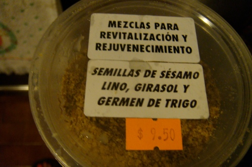 Revitalizing mix: sesame, flax, sunflower seeds and wheat germ