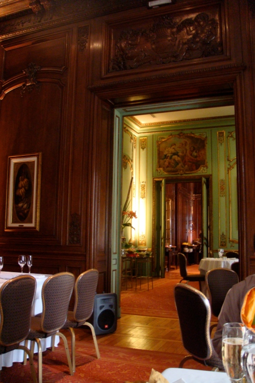 Inside. It used to be the house of a rich and powerful family in Buenos Aires