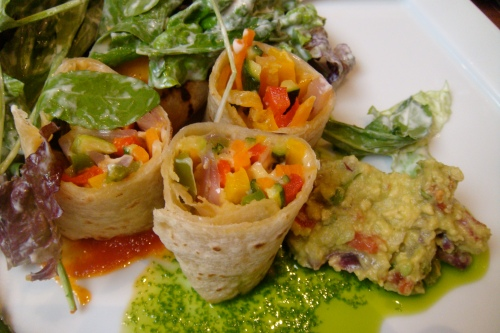 A closer view to these delicious wraps